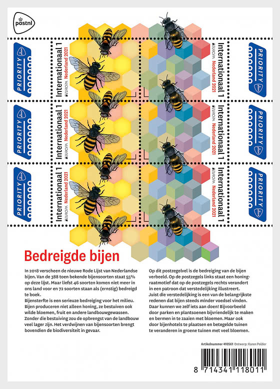 Europa 2021 - Endangered Bees - Sheetlets