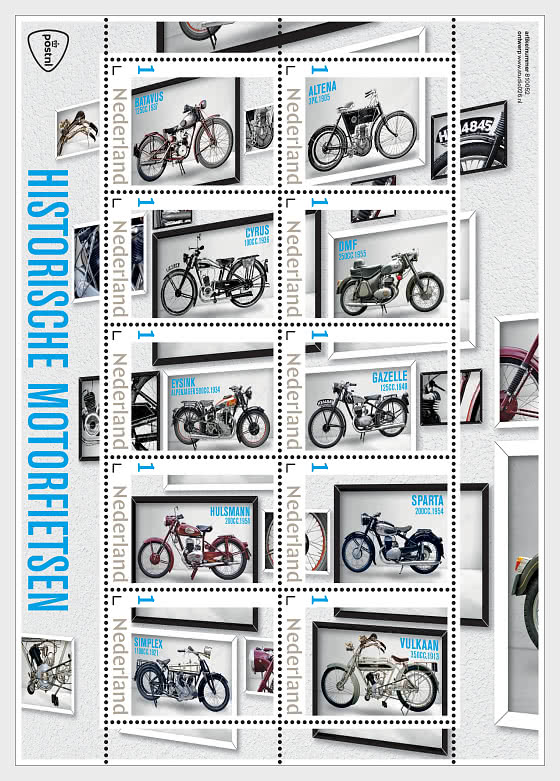 Historic Motorcycles - Miniature Sheet