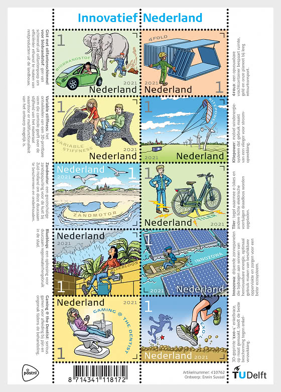 Innovation in the Netherlands - Miniature Sheet