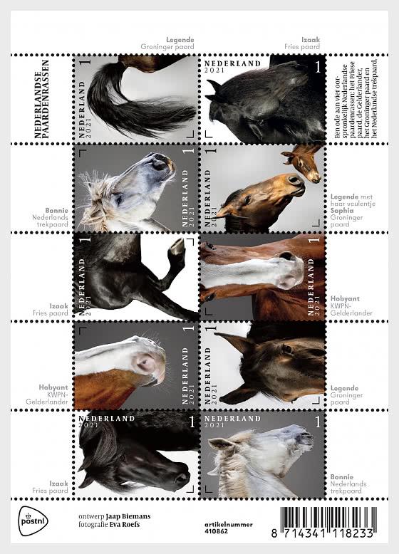 Dutch Horse Breeds - Miniature Sheet