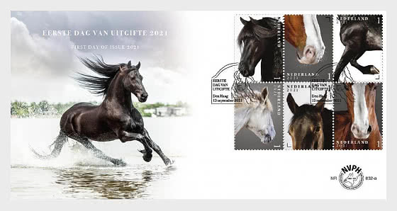 Dutch Horse Breeds - 832A - First Day Cover