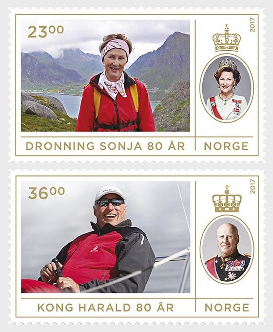 Royal Couple's 80th Birthdays - Set