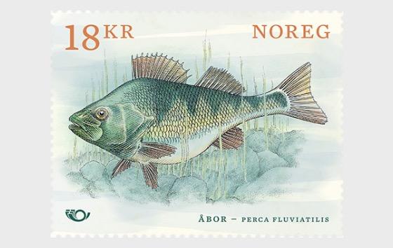 European Perch - Norden Stamp - Set