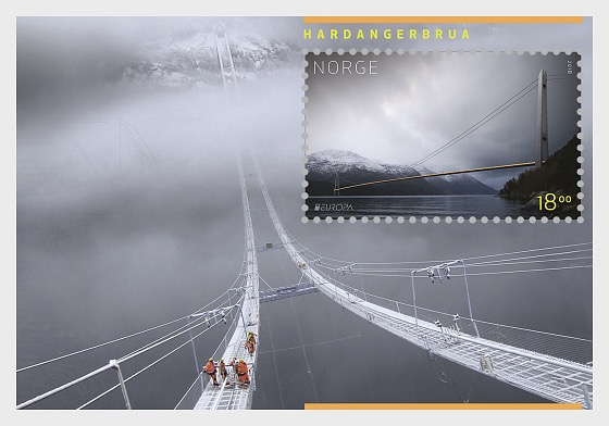 Europa 2018 - Hardanger Bridge - Miniature Sheet