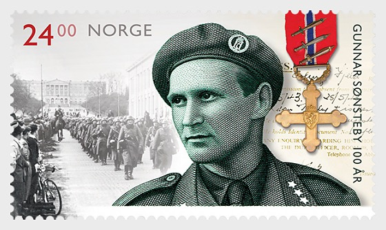 Gunnar Sonsteby - Resistance Movement Fighter Centenary - Set