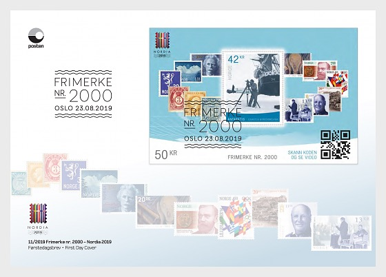 Stamp Number 2000 / Nordia 2019 Stamp Exhibition - First Day Cover
