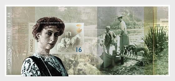 150 Aniversario de la Reina Maud - Hojas Bloque