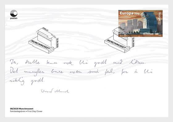 Munch Museum - Ersttagbriefe