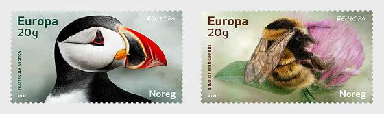 Europa 2021 - Gefährdete Nationale Tierwelt - Serie
