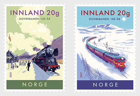 100 Jahre Eisenbahnlinie von Dovre - Serie
