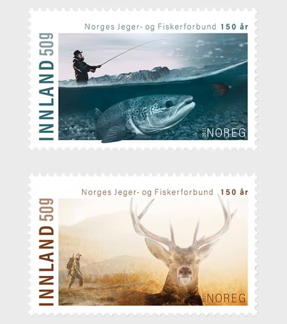 150 Aniversario de la Asociación Noruega de Pescadores y Cazadores - Series