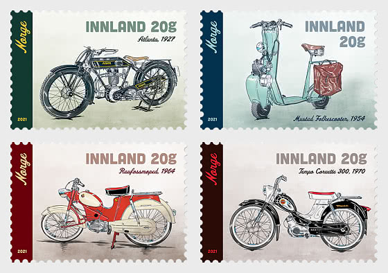 Mopeds and Motorcycles - Set