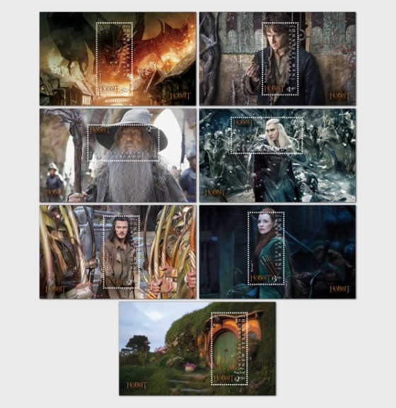 The Hobbit: The Battle of the Five Armies Set of Mint Miniature Sheets - Miniature Sheet