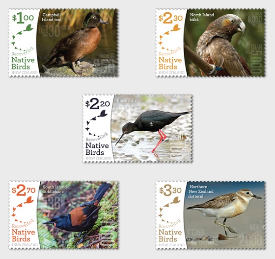 2017 Recovering Native Birds Set of Mint Stamps - Set