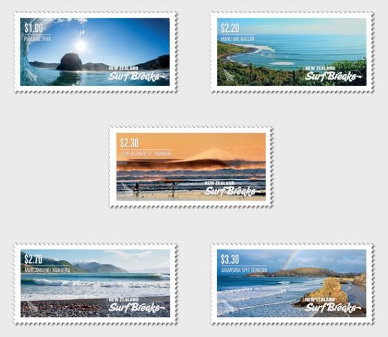 2017 New Zealand Surf Breaks Set of Mint Stamps - Set