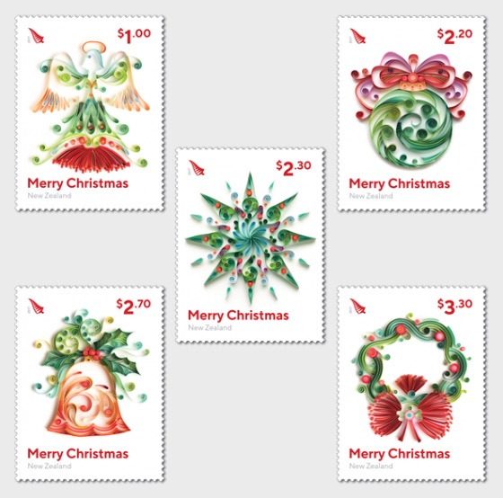 Christmas 2017 Set of Mint Stamps - Set