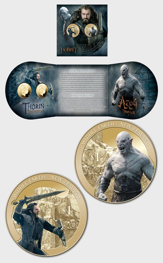 The Hobbit: The Battle of the Five Armies Brilliant Uncirculated Coin Set - Single Coin