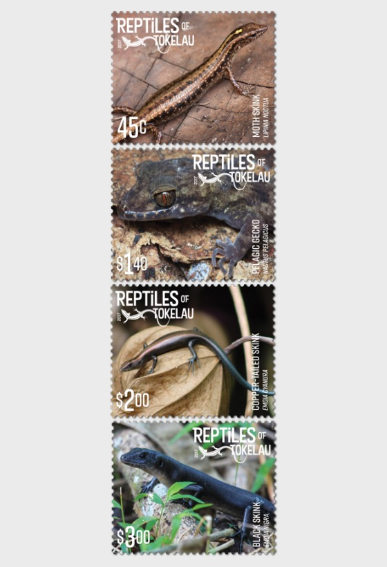 2017 Reptiles of Tokelau Set of Mint Stamps - Set