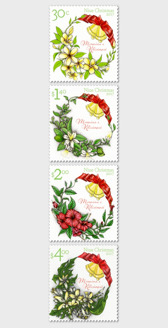 Niue Christmas 2017 Set of Mint Stamps - Set