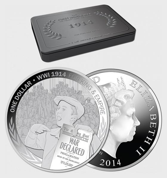 1914 für König und Reich Silber Beweismünze - Silbermünze