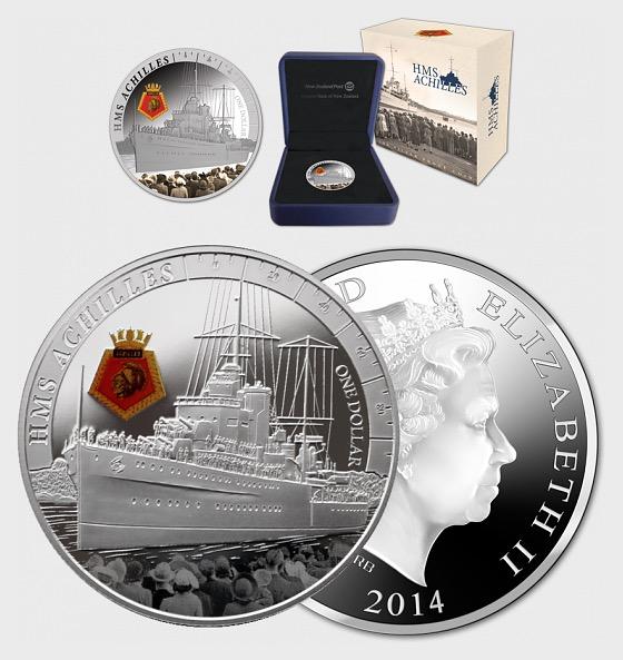HMS Achilles Silver Proof Coin - Silver Coin