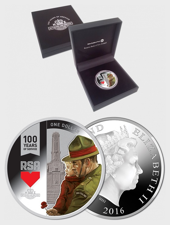 2016 RSA: 100 Years of Service Silver Proof Coin - Silver Coin