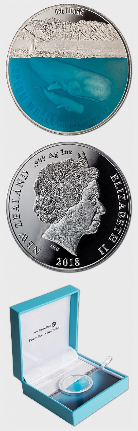 2018 Pottwal-Silber-Beweis-Münze - Silbermünze