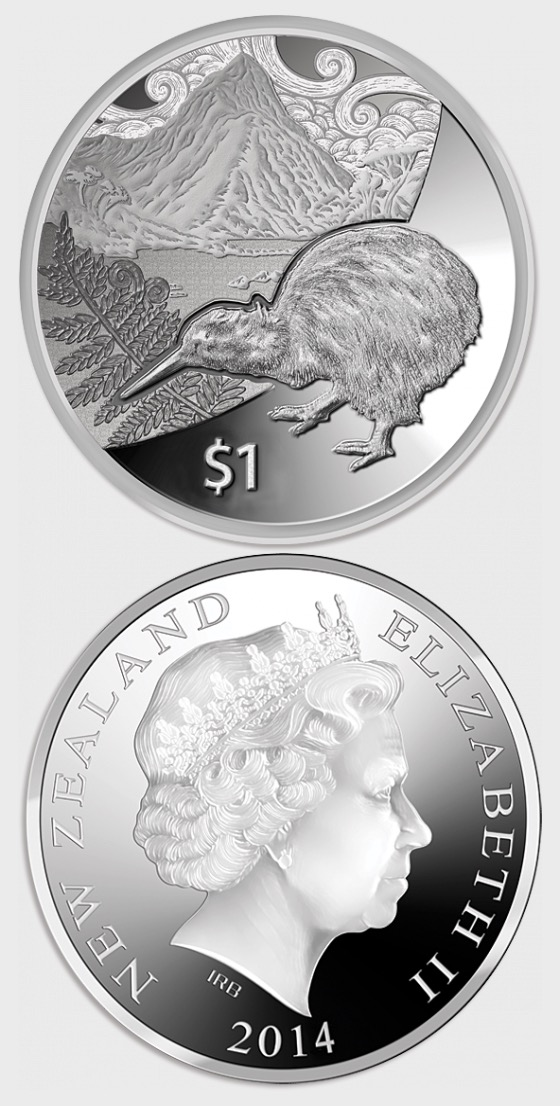 2014 Kiwi Treasures Silver Proof Coin - Silver Coin