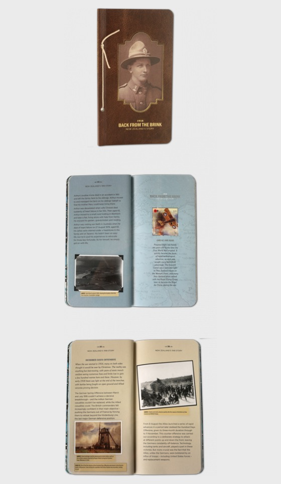 1918 Back from the Brink Miniature Sheet Booklet - Books