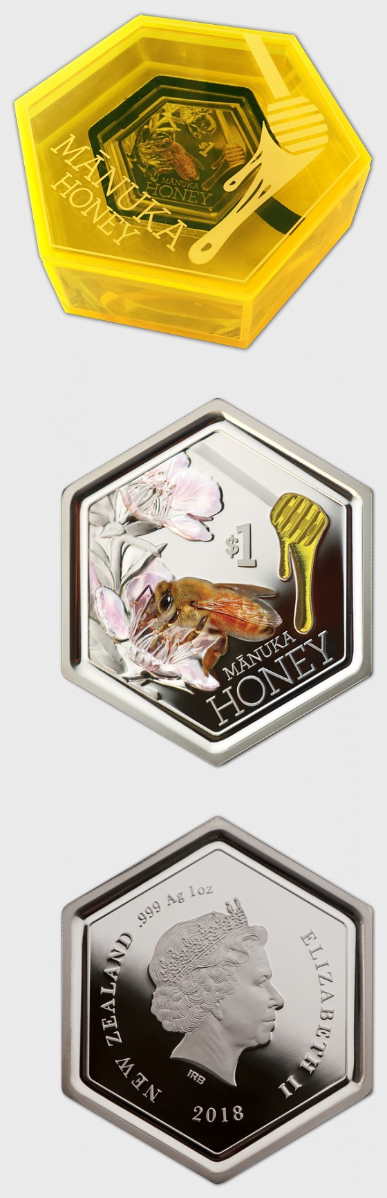 2018 Manuka Honey Silver Proof Coin - Silver Coin