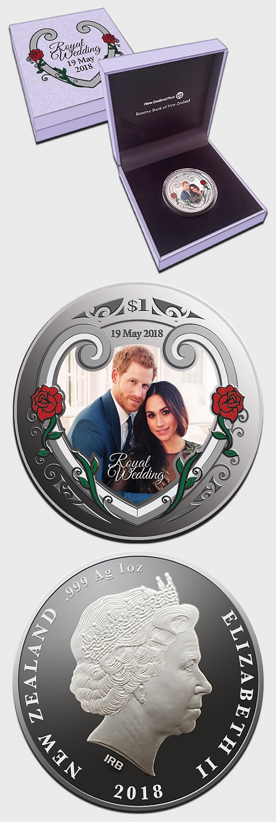 2018 Royal Wedding Silver Proof Coin - Commemorative