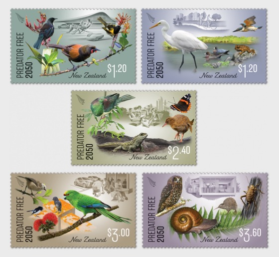 2018 Predator Free 2050 Set of Mint Stamps - Set