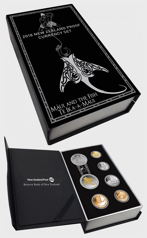 2018 New Zealand Proof Currency Set - Silver Coin
