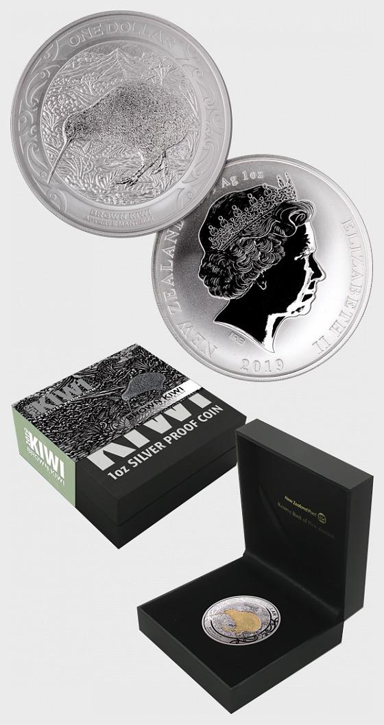 2019 Kiwi Silver Proof Coin - Silver Coin