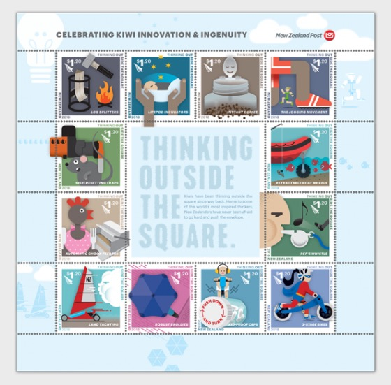 2018 Thinking Outside the Square Set of Mint Stamps - Set