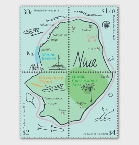 2018 The Island of Niue Se-tenant Set of Mint Stamps - Set
