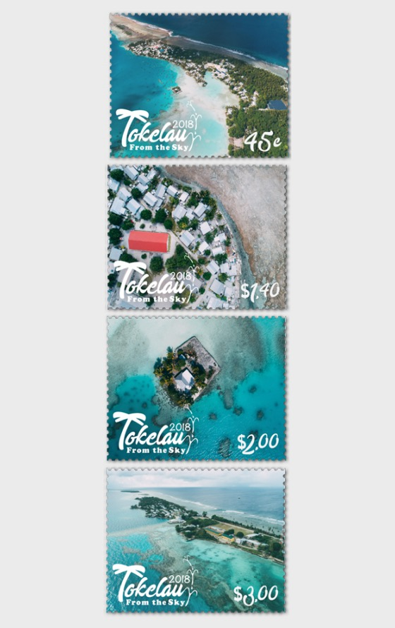 2018 Tokelau From the Sky Set of Mint Stamps - Set