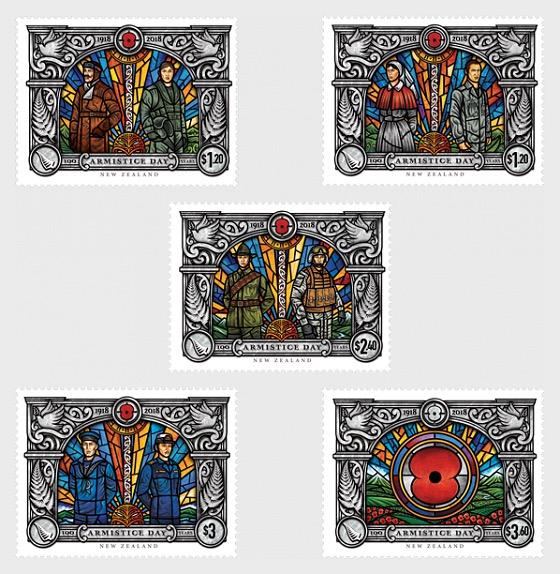 Armistice 1918 - 2018 Set of Mint Stamps - Set