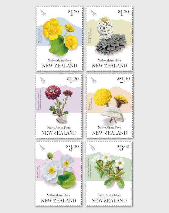 2019 Native Alpine Flora Set of Mint Stamps - Set