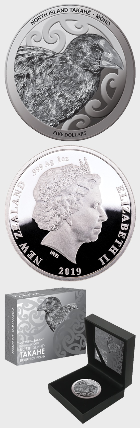 2019 New Zealand Annual Coin: North Island Takahe Silver Proof Coin - Silver Coin