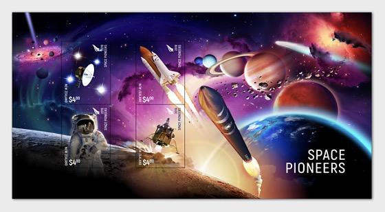 2019 New Zealand Space Pioneers 3D Lenticular Mint Miniature Sheet - Miniature Sheet