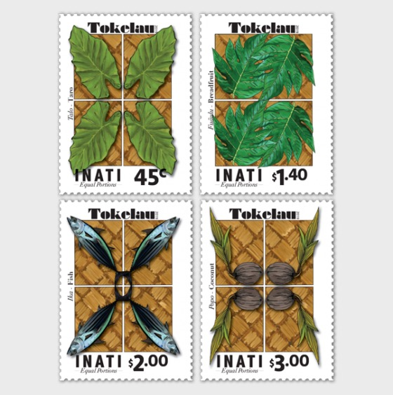2019 Tokelau Inati - Equal Portions Set of Mint Stamps - Set