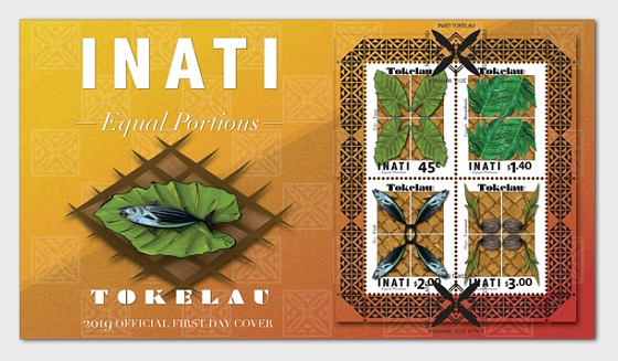 2019 Tokelau Inati - Equal Portions Miniature Sheet First Day Cover - First Day Cover
