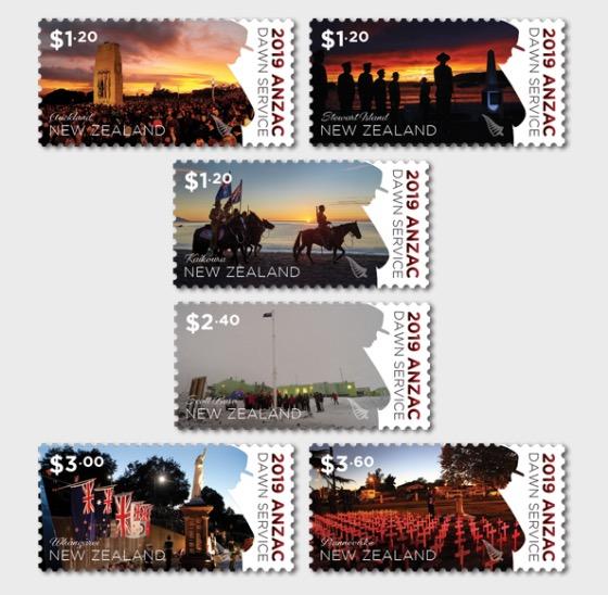 2019 ANZAC: Dawn Service Set of Mint Stamps - Set