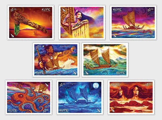 2019 Kupe - The Great Navigator Set of Mint Stamps | New Zealand
