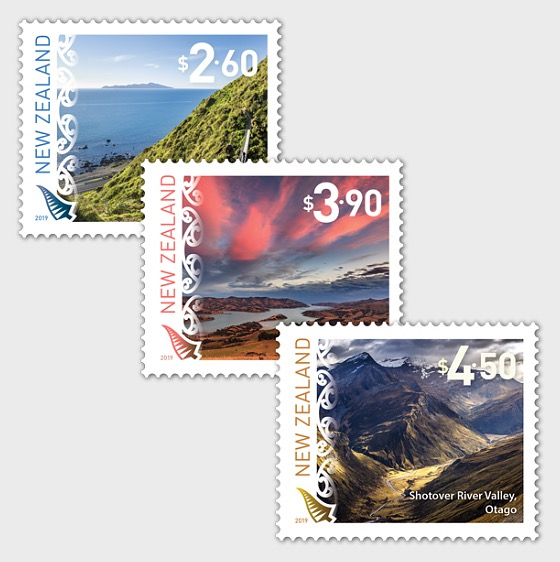 2019 Scenic Definitives Set of Mint Stamps | New Zealand