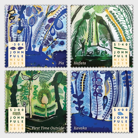 2019 John Pule Niue Set of Mint Stamps  - Set