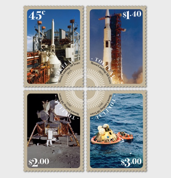 2019 Tokelau - Moon Landing 50 Years Set of Mint Stamps - Set
