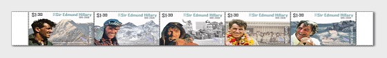 2019 Sir Edmund Hillary 1919-2008 Set of Mint Stamps - Set
