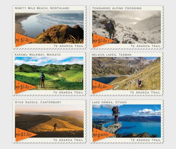 2019 Te Araroa Trail Set of Mint Stamps - Set